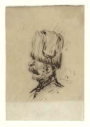 Sketch of an unknown guardsman