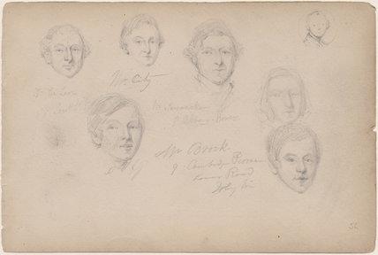 J. De Leon; Mr Brock and five unknown sitters
