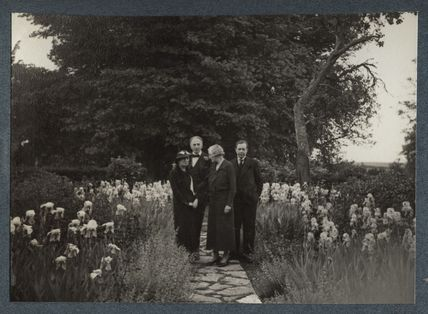 Edith Olivier; Philip Edward Morrell; (Carl) Tancred Borenius and an unknown woman