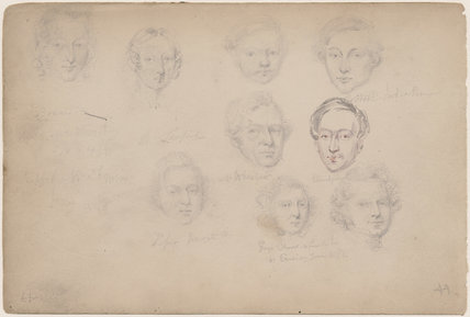 Mrs Lanford; Mr Wheeler; Piper Newgate; George Cherer and five unknown sitters
