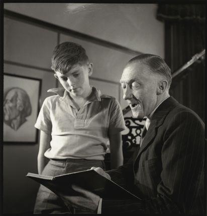 Herbert Bardgett with his son