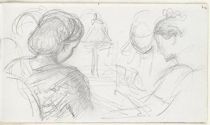 Sketch of three unknown women