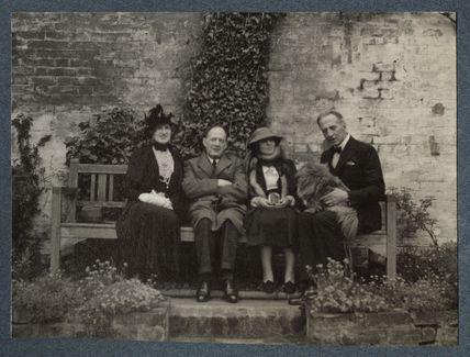 Lady Ottoline Morrell; Walter de la Mare; (Helen) Hope Mirrlees; Philip Edward Morrell