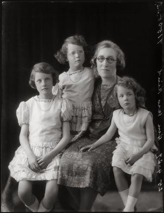 Evelyn Hind; Vivien Hind (later Schurmann, later Lindon); Hon. Dorothy Alice Hind (née Pakington); Pamela Hind O'Malley (née Hind)