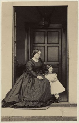 Louisa Matilda (née Harris), Lady Castlemaine with child