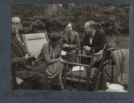 John Hayward; Dorothy Bussy (née Strachey); Simon Bussy and an unknown man