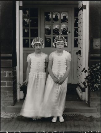 Two bridesmaids for the wedding of Geoffrey Kemp Bourne and Agnes Evelyn Thompson