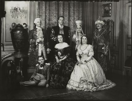Group in fancy dress (Count Guy de Cramayel; Countess de Cramayel)