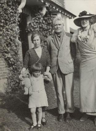 Violet Rosalie Powys (née Dodds); Theodora Gay Scutt (née Powys); Theodore Francis Powys; Lady Ottoline Morrell
