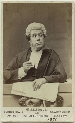 John Lawrence Toole as Serjeant Buzfuz in 'Bardell v. Pickwick'