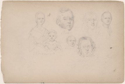 Mrs Marchand; Ball; Marchand and four unknown sitters including a child