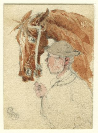 Unknown cavalryman and horse