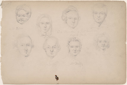 Miss Duff; C.O. Mande; Mr and Mrs Duff and four unknown sitters