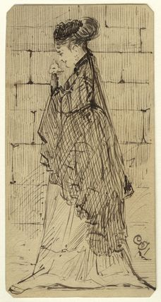 Figure study of an unknown woman