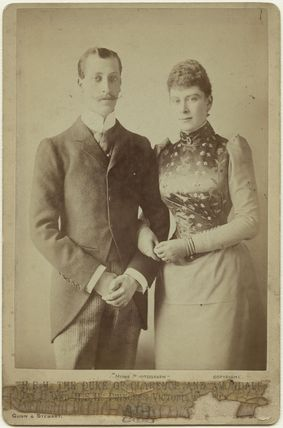 Prince Albert Victor, Duke of Clarence and Avondale; Queen Mary when Princess Victoria Mary of Teck