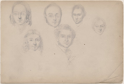 Six unknown sitters