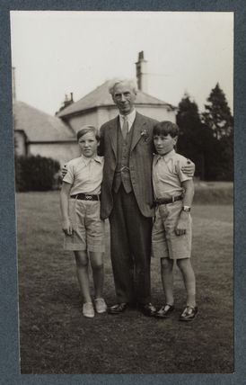 Bertrand Russell, 3rd Earl Russell with his children