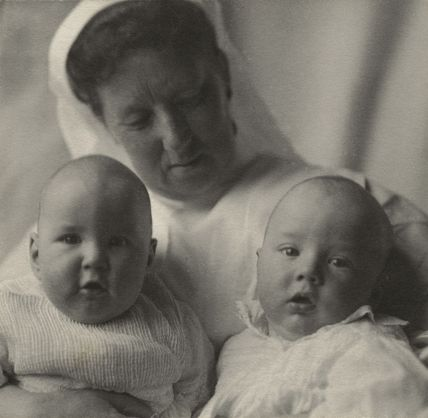 Cavendish Morton and Concord Morton with their nurse
