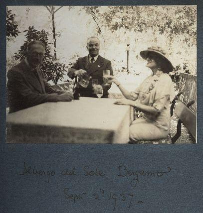 Albergo del Sole, Bergamo' (Philip Edward Morrell; Lady Ottoline Morrell and an unknown man)