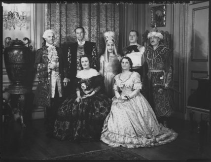 Group in fancy dress (Countess de Cramayel; Sir John Latta, 1st Bt)