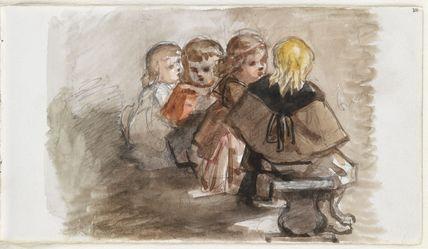 Four unknown children