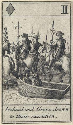 'Ireland and Grove drawn to their execution' (William Ireland (William Ironmonger); John Grove)