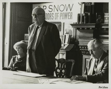 Pamela Hansford Johnson (Lady Snow); Charles Percy Snow, Baron Snow and Harold Macmillan, 1st Earl of Stockton