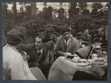 Gertrude Emerson Sen; Lionel Tilden; Boshi Sen; Dorothy Bussy (née Strachey); Simon Bussy and an unknown man