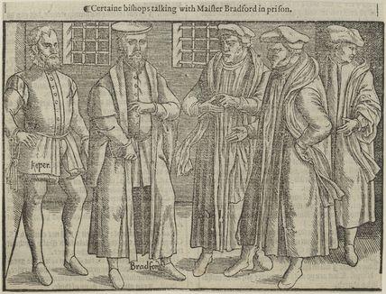 John Bradford and four unknown Bishops