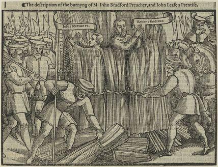 The burning of John Bradford and John Leaf