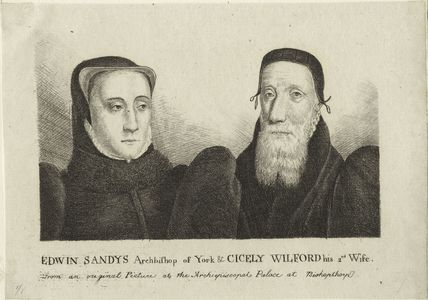 Edwin Sandys and Cicely Wilford his second Wife