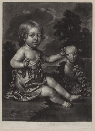 Child with lamb