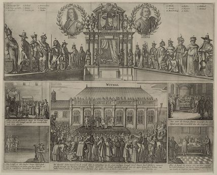 Execution of King Charles I (includes portraits of Thomas Fairfax, 3rd Lord Fairfax of Cameron; Oliver Cromwell)