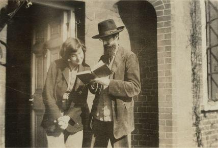 Alix Strachey (née Sargant-Florence); Lytton Strachey