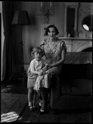 Hon. Mrs Hamilton-Russell and her son