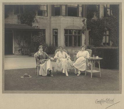 Ida Adams; Lallie Charles (née Charlotte Elizabeth Martin) and an unknown woman