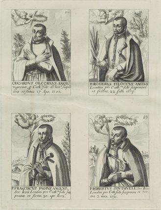 Edward Oldcorn, Roger Filcock, Franciscus Pagius, Robert Southwell