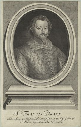 Unknown man engraved as Sir Francis Drake