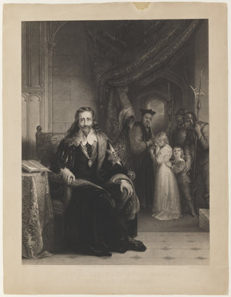 'Charles the First after parting with his children'