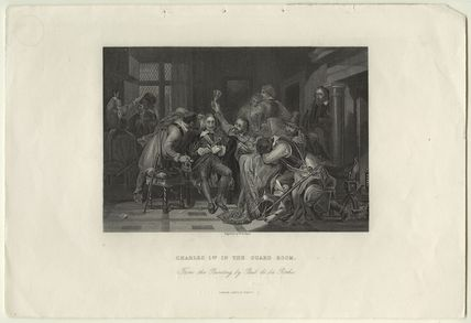 'Charles I in the guard room' (fictional scene including King Charles I)