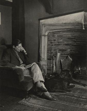 Arthur Koestler with his dog Attila