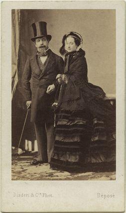 Napoléon III, Emperor of France; Eugénie, Empress of France ('Eugénie de Montijo')