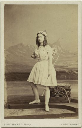 Miss Langford as Cupid in 'Ixion'