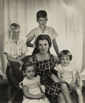 Countess Mountbatten of Burma with her children