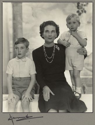 Duchess of Gloucester with her sons