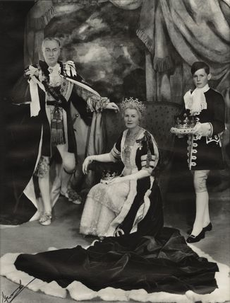 7th Duke of Portland and 7th Duchess of Portland with a pageboy