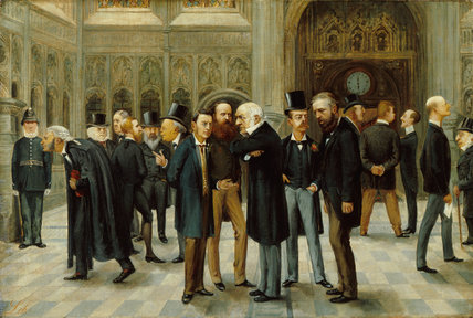 The Lobby of the House of Commons, 1886