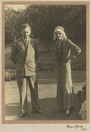 Beatrice Webb and an unknown man
