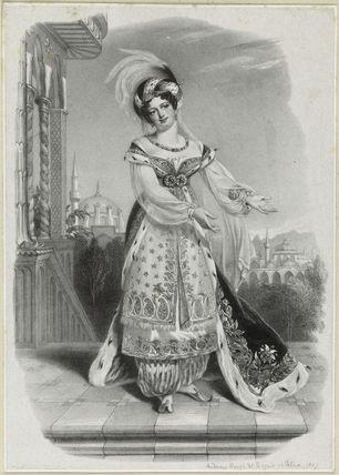 'Madame Ronzi de Begnis as Fatima'