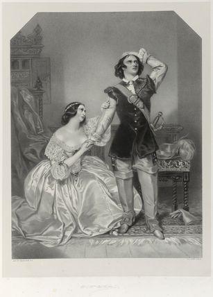 Charles John Kean and Eleanora ('Ellen') Kean (née Tree) as Sir Walter and Lady Amyott in Lovell's 'The Wife's Secrets'